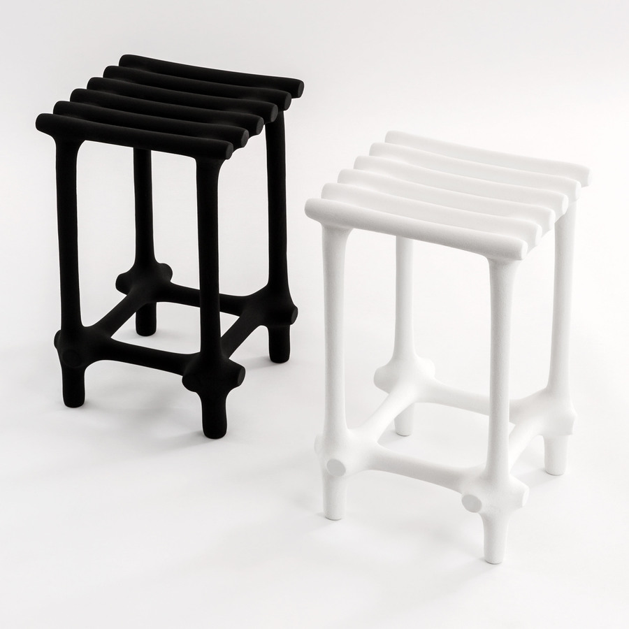 "Photograph of the work ""Hot Wire Extensions: Basic Stools"""